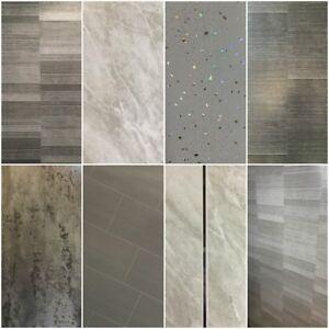 Grey Panels, Tile Effect Cladding, Sparkle Bathroom Shower Wall Panels PVC