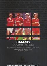 More details for liverpool v manchester united 1990 fa charity shield - football programme