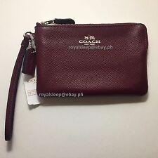 COACH Signature Corner Zip Wristlet in Crossgrain Leather **BNWT** Wallet