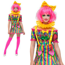 Fever Patchwork Clown Costume Halloween Circus Womens Ladies Fancy Dress Outfit