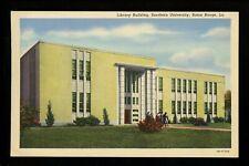 Louisiana LA postcard Baton Rouge Southern University Library Building students