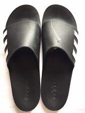 New Adidas Aqualette CF Men Slides Slippers Black/ White Size 18