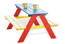 Pinolino Tavolino da Picnic per Bambini 4 2 panche e 1 tavolo