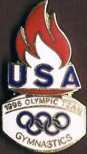 1996 Atlanta Original Flame Design USA Olympic Gymnastics Team NOC Pin