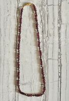 """Vintage Garnet And Black And Gold Spacer bead Necklace 16"""""""