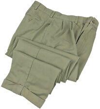 Ralph Lauren Hammond Chino Pants 31x29 Mens Pleated Cuffed Khaki Beige Size Sz