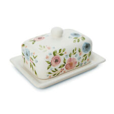 Cooksmart Country Floral Butter Dish Pretty Flowers Breakfast Ceramic Home
