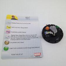 Heroclix Avengers Assemble set Veil #023 Uncommon figure w/card!
