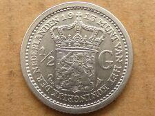 1/2e gulden, Wilhelmina, 1913, zilver, prachtig -