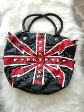Abbey Dawn by Avril Lavigne faux leather black rhinestone british hand bag