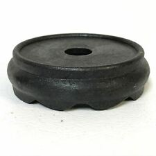 Small Vintage Well Carved Wooden Chinese Wooden Stand For Vase Bowl 10  Ebonized