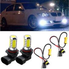 2pcs HID White 9006 HB4 COB LED Bulbs Fog Driving Light +Error Free Decoder