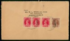 Mayfairstamps India 1930s Ahmedabad Multifranked Cover wwf48039
