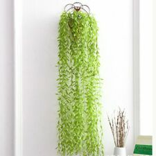 Artificial Willow Branches Fake Weeping Plastic Hanging Plants Greenery Gars HOT