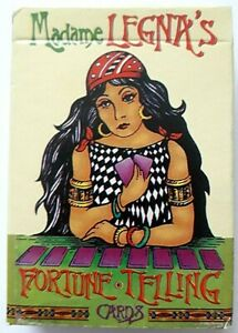 VINTAGE PLAYING CARDS MADAME LEGNAS FORTUNE TELLING 48 + 7 INSTRUCTION CARD 1997