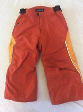 Lands End Snowpants Orange Boys Size 4 Winter Warm Snow Pants