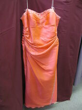 Flirt Maggie Sottero Size 24 Salmon Pink Long Formal Bridesmaid Prom Dress C-1