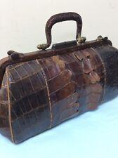Vintage Alligator Skin Gladstone Bag
