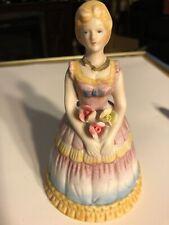 Vtg 1978 Lady in Hoop Skirt Cmi Porcelain Bisque Bell