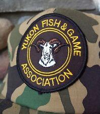 VTG Yukon Fish & Game Association Hat Snapback Patch Wildlife Conservative Cap