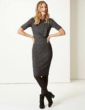 M&S Half Sleeve Jersey Bodycon Dress 18 Reg