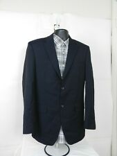 Jones New York Mens Navy Blue Wool Blazer Sport Coat Jacket SIZE 38R