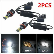 2PCS H8 LED Angel Eyes Halo Ring Light Bulbs HID Xenon 6500K Fit For BMW E82 E90