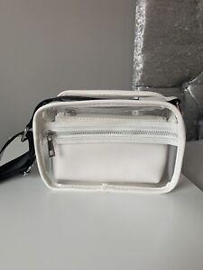 Small White See Through Double Crossbody Bag