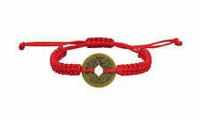 Lucky Chinese Coin Red Kabbalah Bracelet