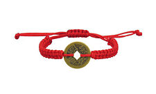 Lucky Moneda China Rojo Kabbalah Pulsera