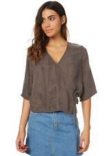 NEW, THE HIDDEN WAY Lily Wrap Blouse, size 10 (Olive colour)