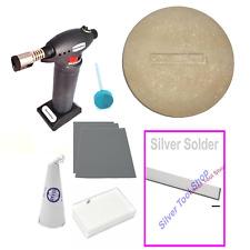Jewellery Solder & Polish Kit - Torch Dish Borax Silicone Wheel Sandpaper - 8 pc