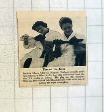 1955 Patricia Gibson And Margaret Stallard Tv Debut Farmer's Wife