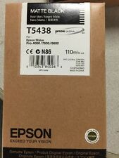 Epson T5438 Matte Black Ink For Stylus Pro 4000 7600 9600