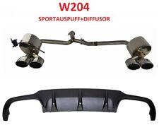 C63 W204 Sportauspuff Diffusor C Klasse Auspuff Heckansatz Mercedes Exhaust Amg