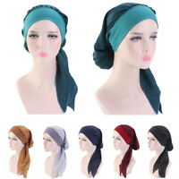 Muslim Women Chemo Cap Stretch Beanie Hair Loss Turban Hat Head Scarf Wrap Hijab
