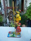 Vtg Linemar Marx Tin Climbing Donald Duck & Mike Mallard Fireman Wind Up Toys