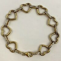Open Heart Link Bracelet Vermeil? Gold Plated Sterling Silver ?