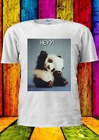Baby Panda Hey ! Cute Bear Tumblr T-shirt Vest Tank Top Men Women Unisex 1028