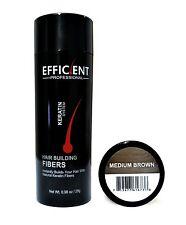 EFFICIENT Hair Fibers Keratin Hair Loss Concealer Medium Brown 28g or .98oz