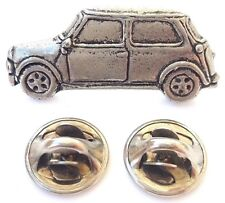 Classic Mini Car Handcrafted In Solid Pewter In Uk Lapel Pin Badge