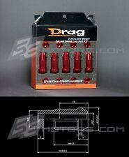 Infiniti G35 G37 M35 M45 FX35 FX37 12x1.25mm Open Splined Aluminum Red Lug Nuts