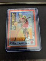 Michael Jordan 1995-96 Topps Finest Mystery Orange Border #M1 Chicago Bulls
