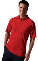 Edwards Garment Men's Short Sleeve Chest Pocket 100% Cotton Polo Shirt. 1535