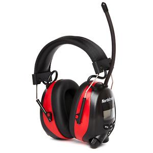 Nordstrand Ear Defenders Protection Muffs Headphones w/ Phone Jack & AM FM Radio