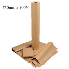 750mm x 200M Heavy Duty Imitation Kraft Brown Parcel Wrapping Paper Roll 90GSM
