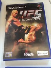 UFC throwdown, PS2, Playstation 2,  tested, Missing book, good condition