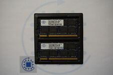 4GB (2x 2GB ) DDR2 2Rx8 6400S 666 800MHz Nanya Laptop RAM