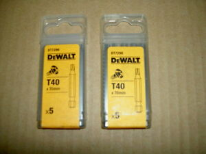 DEWALT TORX 40 X 70MM LONG JOB LOT OF 10 MODEL DT7296 BRAND NEW