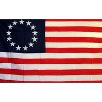 US Betsy Ross Historical Flag Banner Sign 3' x 5' Foot Polyester Grommets